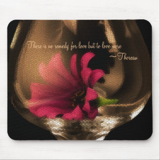 Pink Flower in Glass Mouse Pad