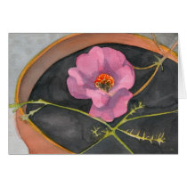 Pink Flower in Terra Cotta Pot Greeting Card