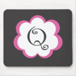 Pink Flower Initial Mousepad