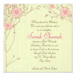 Pink Flower Invitation