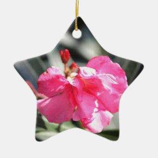 Pink flower, Italy Ceramic Ornament