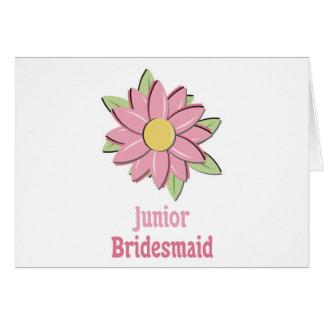 Pink Flower Junior Bridesmaid Greeting Card