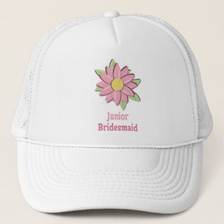 Pink Flower Junior Bridesmaid Trucker Hat