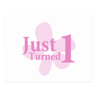 Pink Flower: Just Turned One Postcard