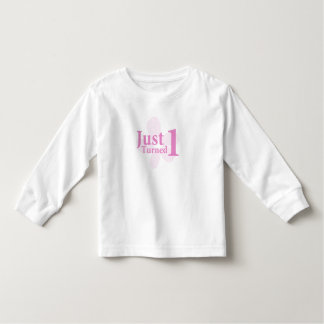 Pink Flower: Just Turned One Toddler T-shirt