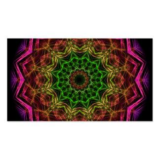 Pink Flower kaleidoscope Business Card