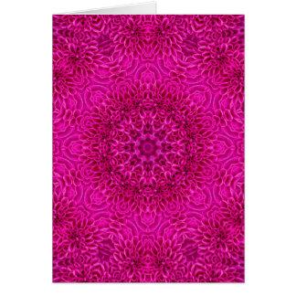 Pink Flower Kaleidoscope   Custom Greeting Cards