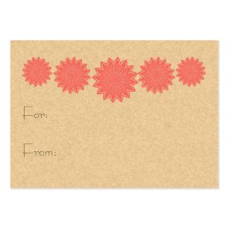 Pink Flower Kaleidoscope Large Business Card