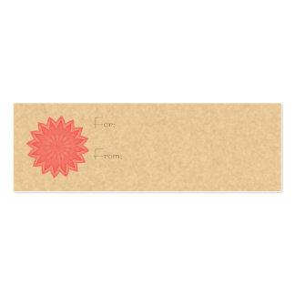 Pink Flower Kaleidoscope Mini Business Card