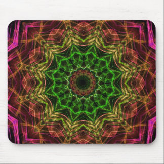 Pink Flower kaleidoscope Mouse Pad