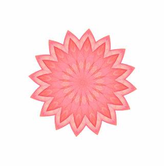 Pink Flower Kaleidoscope Statuette