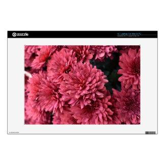 Pink flower laptop skin