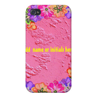 Pink Flower Lei iPhone 4 Covers