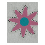 pink flower letterhead template