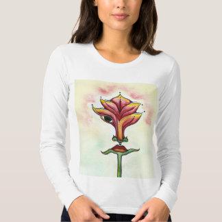 Pink Flower Long Sleeve Shirt