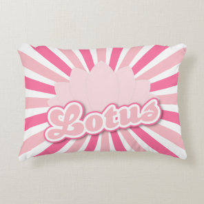 Pink Flower Lotus Accent Pillow