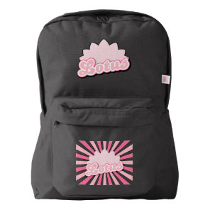Pink Flower Lotus American Apparel™ Backpack