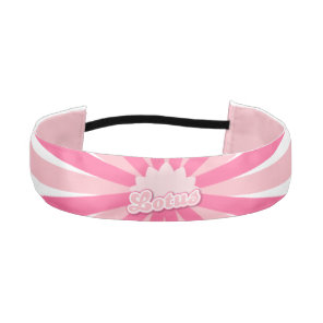 Pink Flower Lotus Athletic Headband