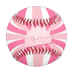 Pink Flower Lotus Baseball