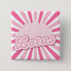Pink Flower Lotus Button