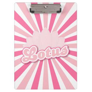 Pink Flower Lotus Clipboard