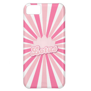Pink Flower Lotus Cover For iPhone 5C