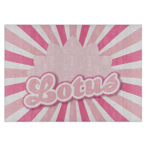 Pink Flower Lotus Cutting Board