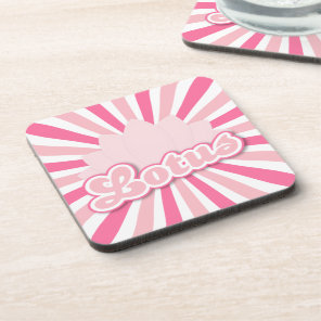 Pink Flower Lotus Drink Coaster