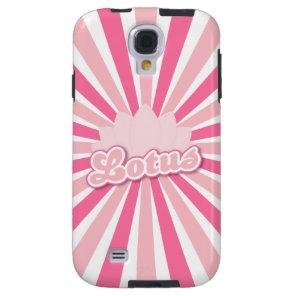 Pink Flower Lotus Galaxy S4 Case