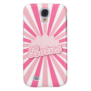 Pink Flower Lotus Galaxy S4 Case