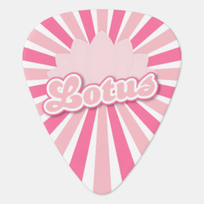 Pink Flower Lotus Guitar Pick