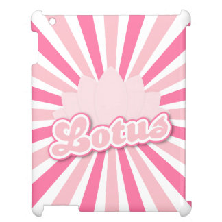 Pink Flower Lotus iPad Cases