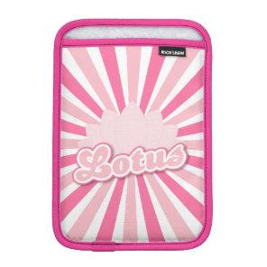 Pink Flower Lotus iPad Mini Sleeve
