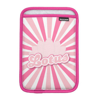 Pink Flower Lotus iPad Mini Sleeves