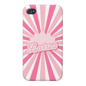 Pink Flower Lotus iPhone 4 Cover