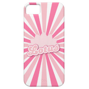 Pink Flower Lotus iPhone SE/5/5s Case