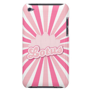Pink Flower Lotus iPod Touch Case