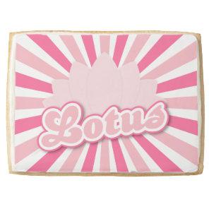 Pink Flower Lotus Jumbo Shortbread Cookie