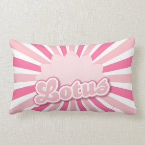 Pink Flower Lotus Lumbar Pillow