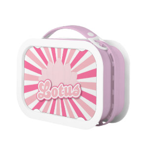 Pink Flower Lotus Lunch Box