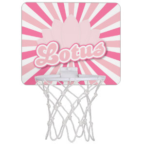 Pink Flower Lotus Mini Basketball Hoop