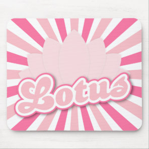 Pink Flower Lotus Mouse Pad