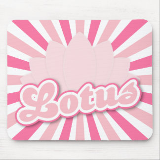 Pink Flower Lotus Mouse Pad