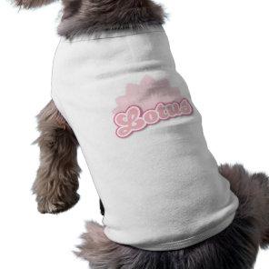 Pink Flower Lotus pet clothing