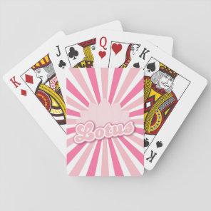 Pink Flower Lotus Playing Cards