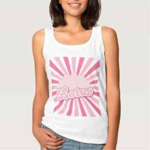 Pink Flower Lotus Tank Top