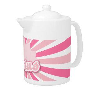Pink Flower Lotus Teapot