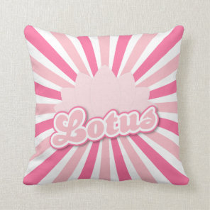 Pink Flower Lotus Throw Pillow