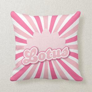Pink Flower Lotus Throw Pillow