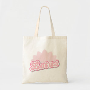 Pink Flower Lotus Tote Bag